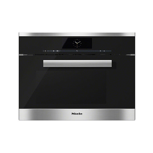 Miele DGM6800 M Touch Pureline compact steam oven with Microwave in Obsidian Black