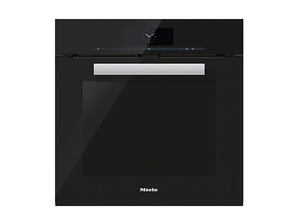 Miele H6860BP pureline single oven in obsidian black