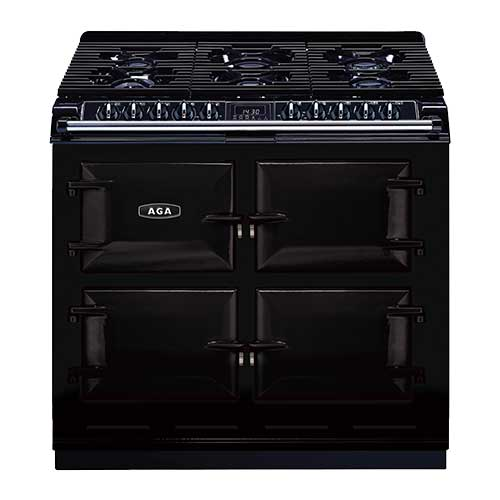 Aga 6:4 Cooker with Gas top in Black