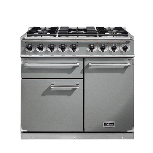 Falcon 1000 Dual Fuel Range Cooker in Stainless Steel