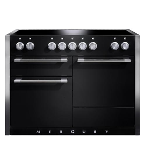 Mercury 1200 Induction Range Cooker in Ash Black