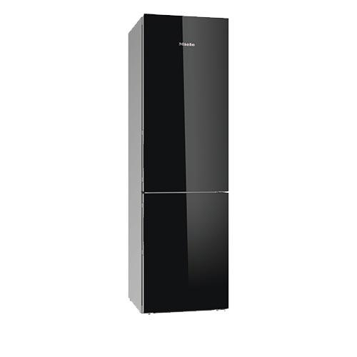 Miele KFN29683 Fridge Freezer in Black Glass