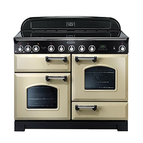 Rangemaster Classic Deluxe 110 Induction Range Cooker in Cream
