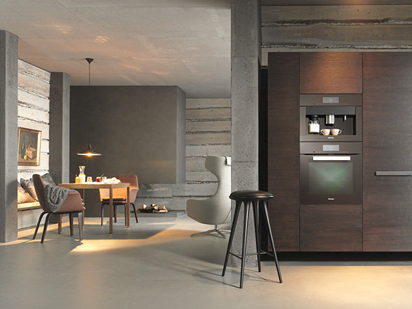 Miele H6860BP M Touch oven and cva 6805 M Touch coffee machine Havanna Brown lifestyle med res