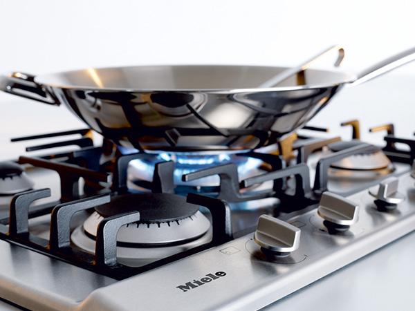 miele gas hob KM2032 lifestyle wok burner