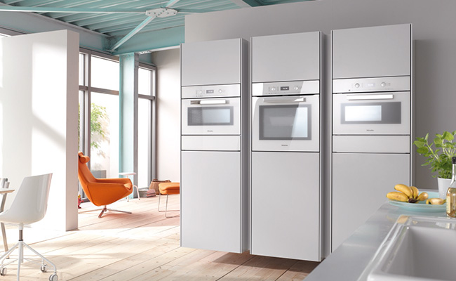 miele pureline steam combination oven DGC6400 brilliant white lifestyle med res