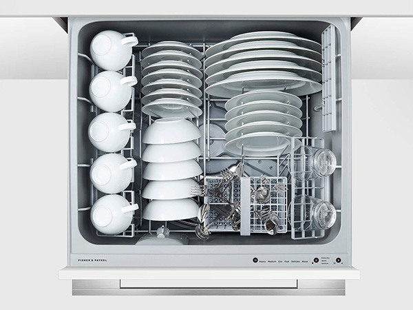 Fisher & Paykel Double Dishwasher Drawers close up