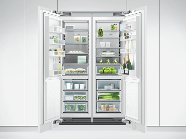 Fisher & Paykel Integrated Column Freezer open