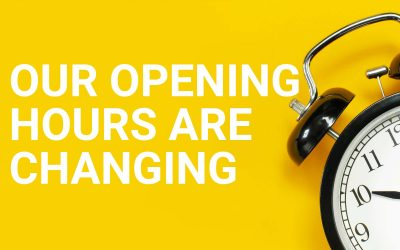 Our opening times are changing